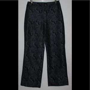 NEW YORK & COMPANY Pants Black Silver Jacquard